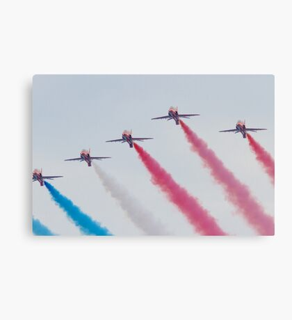 RAF Red Arrows Aerobatic Display Team Canvas Print