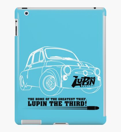 Lupin Central - Fiat 500 Plate iPad Case/Skin