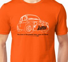 Lupin Central - Fiat 500 Plate Unisex T-Shirt
