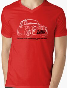 Lupin Central - Fiat 500 Plate Mens V-Neck T-Shirt
