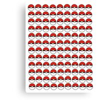 Pokemon - Pokeballs  Canvas Print