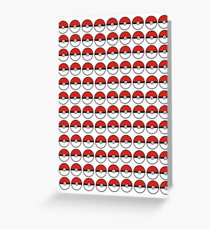 Pokemon - Pokeballs  Greeting Card
