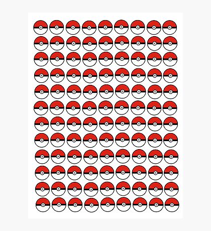 Pokemon - Pokeballs  Photographic Print