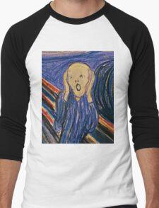 The Scream (Pastel) Men's Baseball ¾ T-Shirt