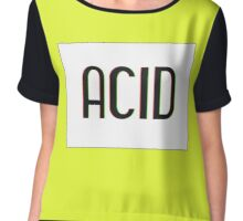 Acid Logotype Chiffon Top