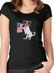 American pug Women's Fitted Scoop T-Shirt