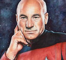 Captain Picard Portrait - Star Trek Art by OlechkaDesign