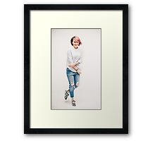 woman styling Framed Print