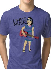 Bella - Life is Music Tri-blend T-Shirt