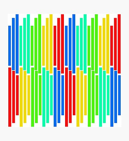 Colored Bars Photographic Print