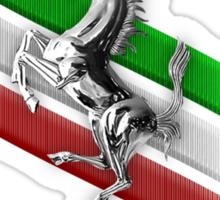 Ferrari Lover #2 [Silver - Black] Sticker