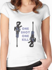 one kill Women's Fitted Scoop T-Shirt