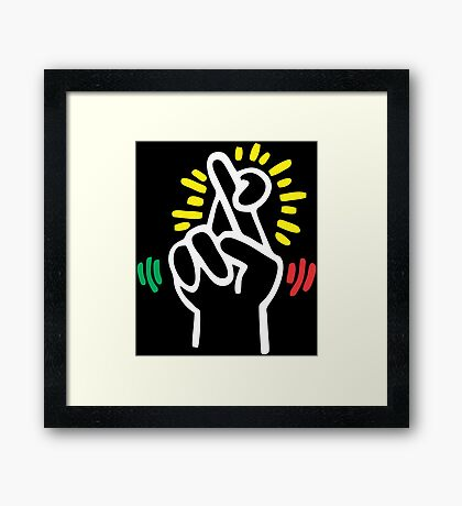 Keith Haring Fingers Framed Print