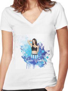 Team Candela colour splash Women's Fitted V-Neck T-Shirt