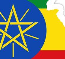 Ethiopia Flag Map Sticker