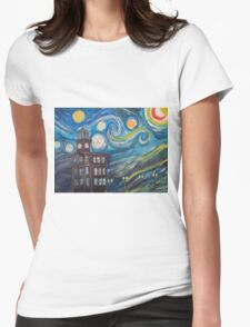 Auburn Starry Night Womens Fitted T-Shirt