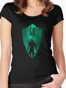 Knight Armour Shield Women's Fitted Scoop T-Shirt