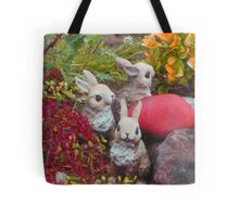 bunnies collecting colors for Easter * Tote Bag