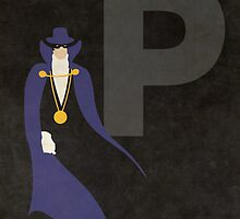 The Phantom Stranger - Superhero Minimalist Alphabet by justicedefender
