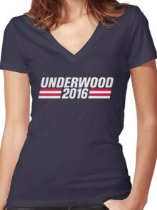 Frank Underwood 2016 - High Quality Resolution Women's Fitted V-Neck T-Shirt