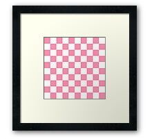 Pink Checkerboard Framed Print