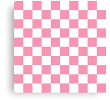 Pink Checkerboard Canvas Print