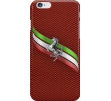 Ferrari Lover #2 [Silver - Red] iPhone Case/Skin