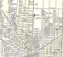 Vintage Map of Detroit Michigan (1872) Sticker