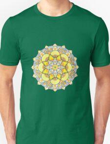 Yellow mandala Unisex T-Shirt