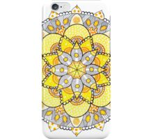 Yellow mandala iPhone Case/Skin