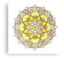Yellow mandala Canvas Print