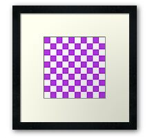 Purple Checkerboard Framed Print
