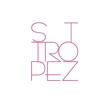 St. Tropez in Pink on white background by Robert Elfferich