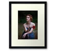 toned image of attractive girl  Framed Print