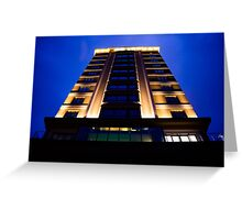 Building in the blue hour Greeting Card