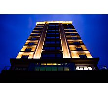 Building in the blue hour Photographic Print