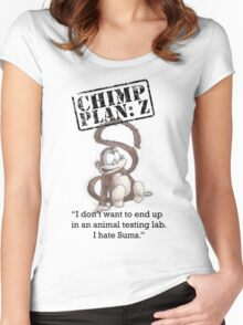 Henry - Chimp Plan: Z Women's Fitted Scoop T-Shirt