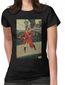Pirate Captain Womens Fitted T-Shirt