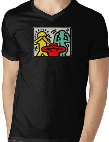 Keith Haring 3 Monkey Mens V-Neck T-Shirt