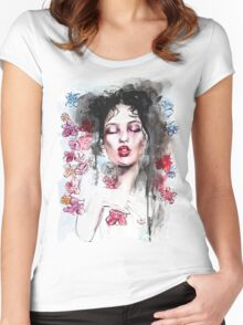 Fresh Flowers Women's Fitted Scoop T-Shirt