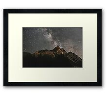 Milky Way Over Mountains- Landscape Photography Framed Print
