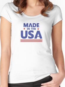 Made in the USA Women's Fitted Scoop T-Shirt