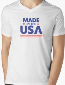 Made in the USA Mens V-Neck T-Shirt