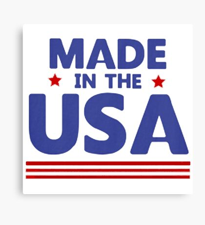 Made in the USA Canvas Print