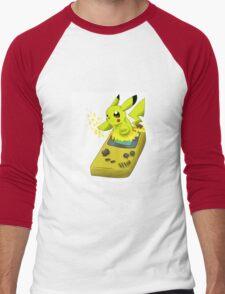 Pikachu Gameboy Yellow Men's Baseball ¾ T-Shirt
