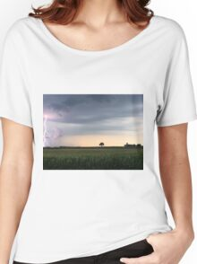 Lightning on a Farm Women's Relaxed Fit T-Shirt