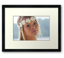 beautiful blonde girl Framed Print