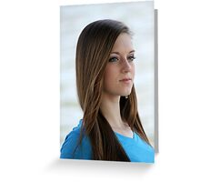 portrait of a cheerful girl  Greeting Card