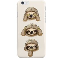 No Evil Sloth  iPhone Case/Skin