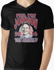 Feel the johnson - gary johnson Mens V-Neck T-Shirt